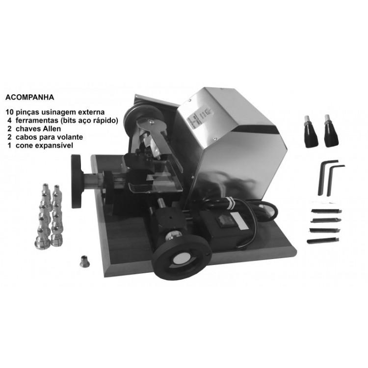 Mini Torno Usinagem Externa - 110V-127 V - Usina somente por fora da aliança