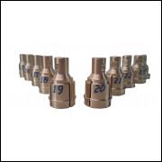 Jogo de Pinças para Usinagem Externa 10 pinças para Mini Torno ®Reyes Máquinas