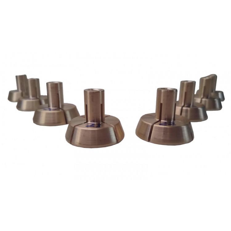 Jogo de Pinças para Usinagem Interna 08 pinças para Mini Torno ®Reyes Máquinas